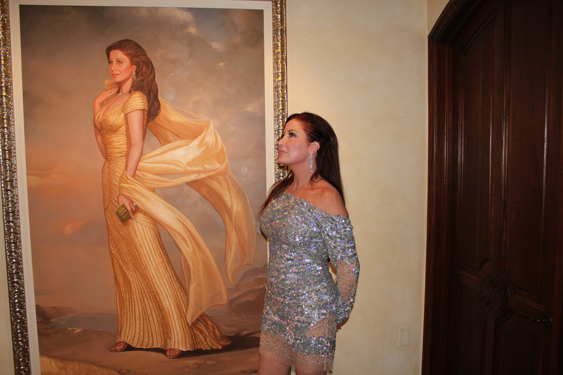 Rhea Chile Unveiling Party - Artist and Portrait Painter Ralph Wolfe ...